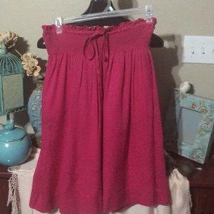 Vintage Chanel pink silk skirt
